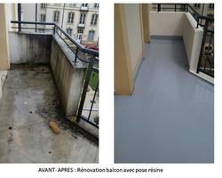 Peinture E.G.P.L. - Rénovation balcon avec pose de résine